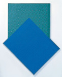 Blue Green Transformation, 1998; Eyesadow, aluminum, Private Collection