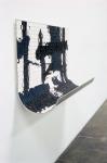 Kline Curve, 2005; Eyeshadow, pigment, aluminum