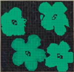 Viridian Green (Warhol), 2008; Eyeshadow, aluminum, Private Collection