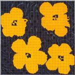 Saffron (Warhol), 2008; Eyeshadow, aluminum, Private Collection