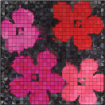 Quinacridone Rose (Warhol), 2008; Eyeshadow, aluminum, Private Collection
