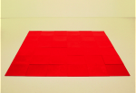 Homage to Carl Andre (red), 1991; Lipstick and wax; Orange County Museum of Art