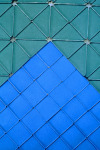 Blue Green Transformation, detail, 1998; Eyesadow, aluminum