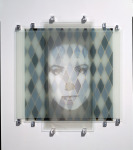 Catherine Deneuve, 1991; Enamel on glass, Private Collection