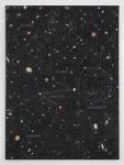 Cosmos, 2013; Eyeshadow, pigment, plexiglass