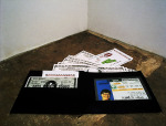 Cut to the Chase inside the Wallet of Bill Gates, 1999; Plastic laminate, paper