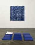 Form into Uniform into Formlessness, 1996; Blue screen video capture for digital output, backed enamel on aluminum, Private Collection