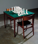 House of Cards, 1991; Plaster, furniture, felt, Private Collection