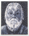 John, 2005; Eyeshadow, aluminum, Private Collection