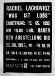 """Magazin 4 Austria, poster for show """"Was is Loos;"""" 1995"""