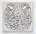 Mondrian Bulge, 2005; Eyeshadow, pigment, 3D plexiglass cover, Private Collection
