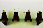 Season Cycle, 1991-1992; Brass plate figures, wood bases, Private Collection