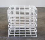 Square Transformation,Flexible - Open Cube (White Rubber) 1996; Rubber, Private Collection