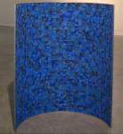 Standing Curve, 2006; Compression cast cosmetic pigment, stainless steel, metal tinplate