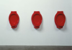 Untitled Urinals, 1992; Lipstick, wax, hydrocal, Los Angeles County Museum of Art