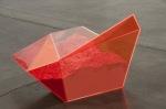 Particle Dispersion: Orange Vega, 2013; Plexiglass case with eyeshadow